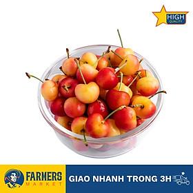 Cherry vàng Mỹ size 9.5 - Mọng nước, trái chín đậm vị, đầu mùa vị ngọt chua vừa.