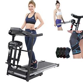 máy chạy bộ điện đa chức năng sport 400 thế hệ 4.0 tặng đai massage rung giảm mỡ toàn thân + bó gối thể thao tránh chấn thương đầu gối + giá tập cơ bụng tăng cơ bắp