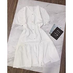 Đầm Maxi Tay Bồng Lai Bèo️️