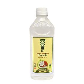 Dầu dừa nguyên chất Organic Vietcoco 500ml - chai Pet