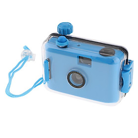 Underwater Waterproof Lomo Camera Mini Cute 35mm Film With Housing Case Blue
