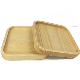 Khay gỗ thông vuông đựng thực phẩm