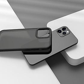 Case Dành Cho Iphone 12 Pro Max - Ốp Lưng Chống Sốc Mặt LưngSuốt Nhám Mờ Cao Cấp Cho Iphone 12 Pro Max