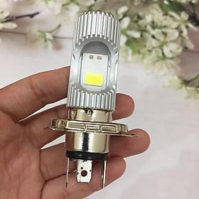 Đèn LED 2 tim (bản to) chân H4 siêu sáng cho xe máy A242