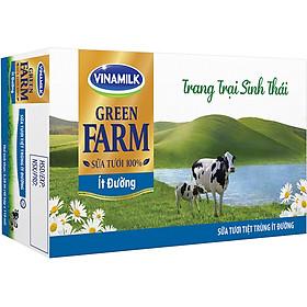 Thùng 48 Sữa Tươi Tiệt Trùng Vinamilk Green Farm - Sữa Tươi 100% Ít Đường 110ml