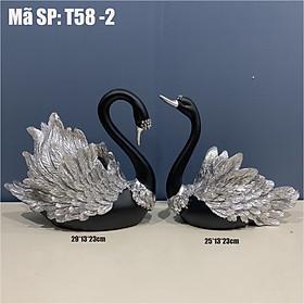 Cặp tượng thiên nga trang trí T58