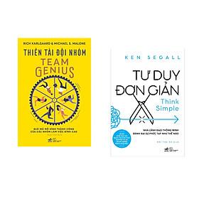 Combo 2 cuốn sách: Thiên tài đội nhóm + Tư duy đơn giản - Nhà lãnh đạo thông minh đánh bại sự phức tạp như thế nào