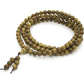 Chuỗi vòng tay trầm hương tự nhiên cao cấp 108 hạt phong cách phật giáo