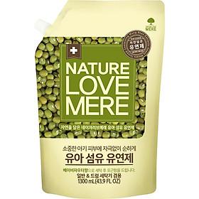 Nước Xả Dịu Nhẹ Cho Bé Nature Love Mere Mung Bean Túi 1.3L