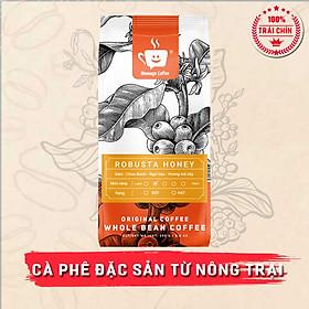 Cà Phê Robusta Honey Rang Mộc Xay Nguyên Chất  Message Coffee Thượng Hạng 100%, Dùng Pha Máy, Pha Phin