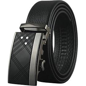 Thắt Lưng Nam Cao Cấp AT Leather P105 - Đen