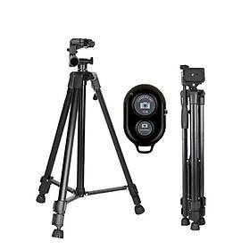 Chân giá đỡ Tripod 3366 cao 150cm kèm Remote chụp ảnh - Hàng nhập khẩu