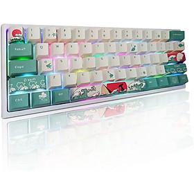 Set keycaps (chỉ có nút bàn phím) chơi game họa tiết san hô biển, chất liệu PBT với 71 phím mang lại độ bền cao, công nghệ năm mặt tiên tiến, tương thích nhiều loại bàn phím