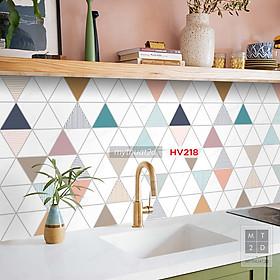 Decal gạch bông trang trí dán bếp, dán tường - mã HV218