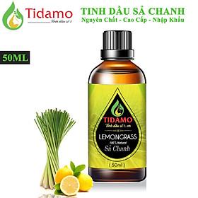 Tinh dầu Sả Chanh Thiên Nhiên Cao Cấp 50ML (Lemongrass) - Tinh dầu Sả Chanh Nguyên Chất TIDAMO Giúp Bảo Vệ Sức Khỏe, Kháng Khuẩn, Đuổi Muỗi Và Thư Giãn Tinh Thần