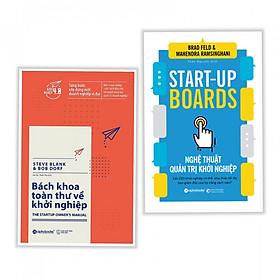 Combo sách hay về khởi nghiệp cho bất kỳ ai : Bách khoa toàn thư về khởi nghiệp + STAR - UP BOARDS - Nghệ thuật quản trị khởi nghiệp