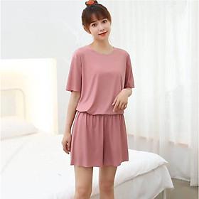 Bộ đồ ngủ nữ ngắn tay mùa hè Free Size mềm mại, thoáng mát - AG200
