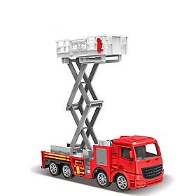 Đồ chơi mô hình xe thang cứu hỏa thang nâng KAVY NO.8827 chất liệu hợp kim và nhựa nguyên sinh an toàn, chi tiết sắc sảo