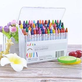 Hộp bút sáp 64 màu cho bé tập tô, Bộ sáp màu 64 màu cho bé thoải thích sáng tạo