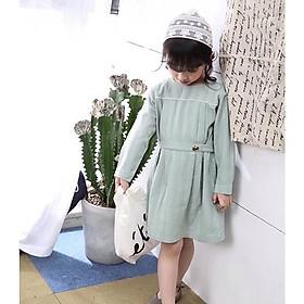 [ FORM LỚN ] Đầm Quảng Châu xanh cho bé gái 01448