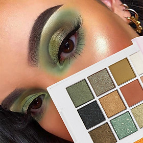 Brand New 12-color Eyeshadow Palette Long-lasting Waterproof Smudge-proof Shimmer Matte Eye Shadow