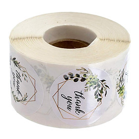 500 Cái/Cuộn Cảm Ơn Bạn Stickers Niêm Phong Tròn Nhãn Giấy DIY