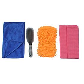 Bộ dụng cụ 4 món rửa xe chăm sóc xe,màu ngẫu nhiên OTOS-CX01