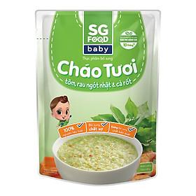 Cháo Tươi Baby Tôm Rau Ngót Nhật SG Food (240g)