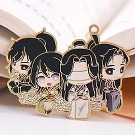 Bookmark kim loại mỏng THIÊN QUAN TỨ PHÚC MA ĐẠO TỔ SƯ HỆ THỐNG TỰ CỨU in màu anime chibi