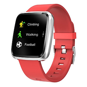 Đồng hồ thông minh theo dõi sức khỏe smartwatch Colmi Y7P dây cao su (Đỏ) - Hàng chính hãng