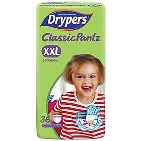 Tã Quần Drypers ClassicPantz Gói Đại XXL36 (36 Miếng) + Tặng 1 Gói Cùng Loại