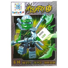 Bộ Xếp Hình - Ninja - Bạc - LI24 - Mẫu 1