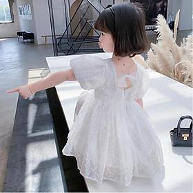 Váy ren công chúa đáng yêu mùa hè cho bé gái từ 8-20kg