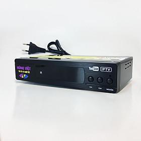 Đầu thu kỹ thuật số DVB-T2 Hùng Việt TS-123 kết nối được Youtube, IPTV - Hàng Chính Hãng