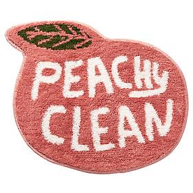 Thảm lau chân die-cut hình trái cây, có thể dùng thảm chùi chân này trong nhà tắm hoặc ngay cửa ra vào. Đặc biệt thảm lau chân có đế chống trượt TPR và lông mềm mịn