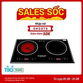 Bếp Đôi Điện Từ Hồng Ngoại Sunhouse SHB8609 (4000W) - Hàng chính hãng