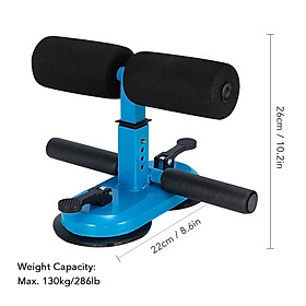 Portable Sit Up Bar with Double Suction Cups Push Up Trainer with 4 Adjustable Heights Muscle Training Equipment-3
