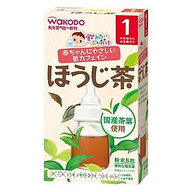 Trà Wakodo Vị Trà Xanh Cho Bé 1 Tháng Nội địa Nhật bản (1.2g x 8 gói) (Tặng trà sữa/cafe)
