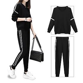Bộ Quần áo thu đông nữ mã TT37 dáng thể dục thể thao hàn quốc đẹp bao gồm áo khoác hoodie và quần jogger