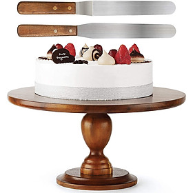 Đế bánh kem bằng gỗ 33cm, Kèm 2 dao chà láng, dùng làm bánh gato, trang trí tiệc cưới, sinh nhật