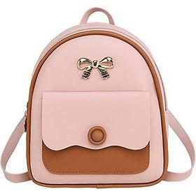 Balo thời trang nhỏ xinh, thiết kế trẻ trung đính nơ sành điệu, chất liệu PU bền đẹp TK0033