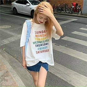 �o thun nam nữ unisex Monday,Tusday... chất thun cotton 100% m�m mịn, co giãn tốt Bảo Bảo