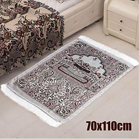 70x110cm Turkish Islamic Muslim Prayer Rug Carpet Mat Namaz Salat Tassel
