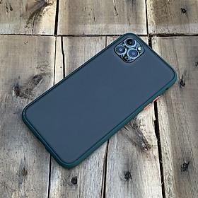 Ốp lưng chống sốc dành cho iPhone 11 Pro Max nút màu cam - Màu xanh đậm