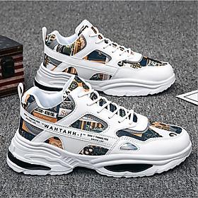 Giày nam sneaker thể thao cổ thấp vải đệt thoáng khí êm chân SP377