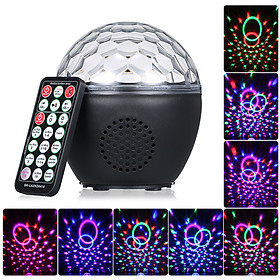 USB Disco Ball Light with IR Remote Control BT Connection Music Speaker Sound Activated Light for Parties Birthday Gift