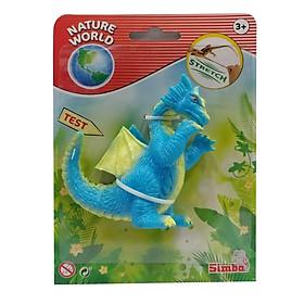 Đồ Chơi Khủng Long Nature World Stretch Dragons - Mẫu 1 - Màu Xanh