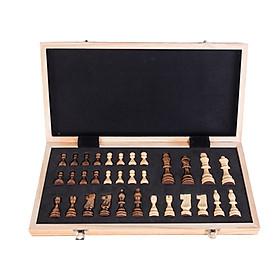 Bàn cờ vua từ tính bằng gỗ giải trí tại nhà