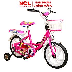 Xe đạp trẻ em Nhựa Chợ Lớn 14 inch K83 - M1543-X2B, Sườn xe bằng sắt chịu lực, Nhựa chính phẩm an toàn, Sản xuất tại Việt Nam - Hàng chính hãng