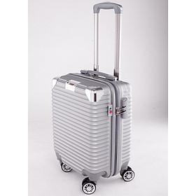 Vali kéo du lịch 841 nhựa ABS chịu lực tốt - Bạc